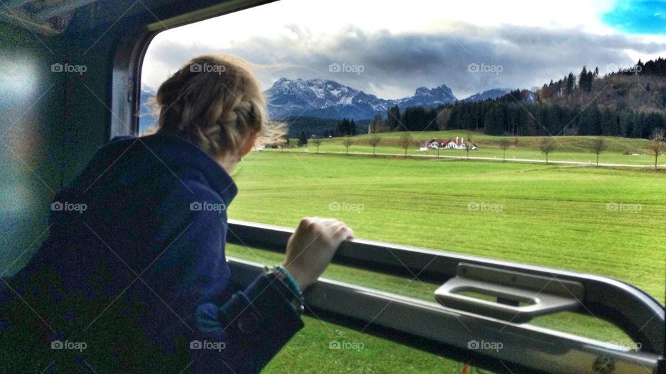 Destination - magic. Mountain train in Bayern, Germany