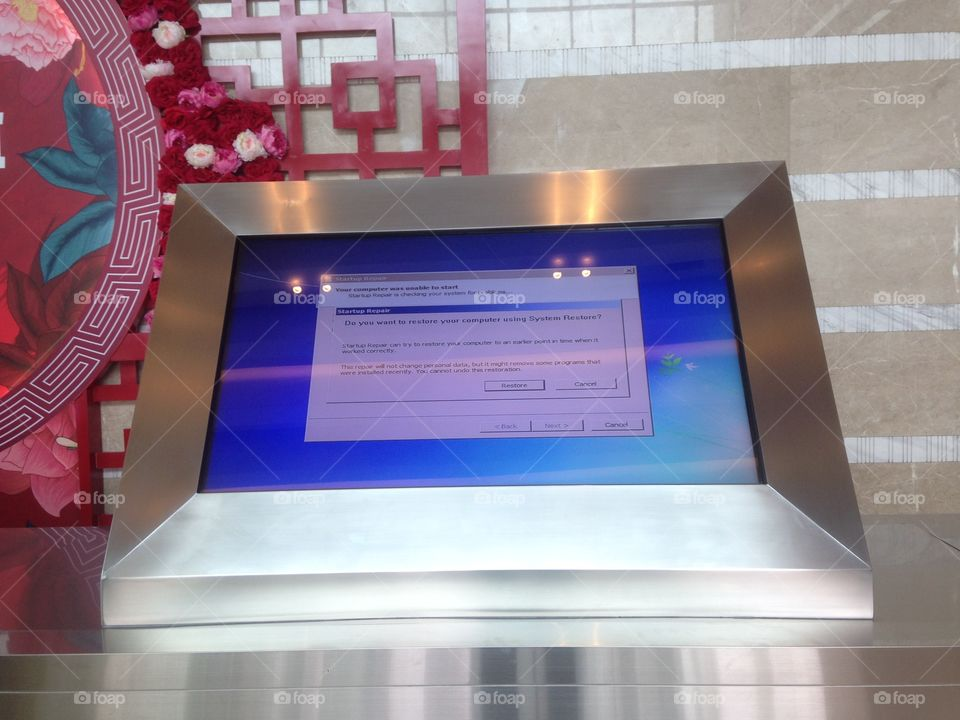 program error in mall display