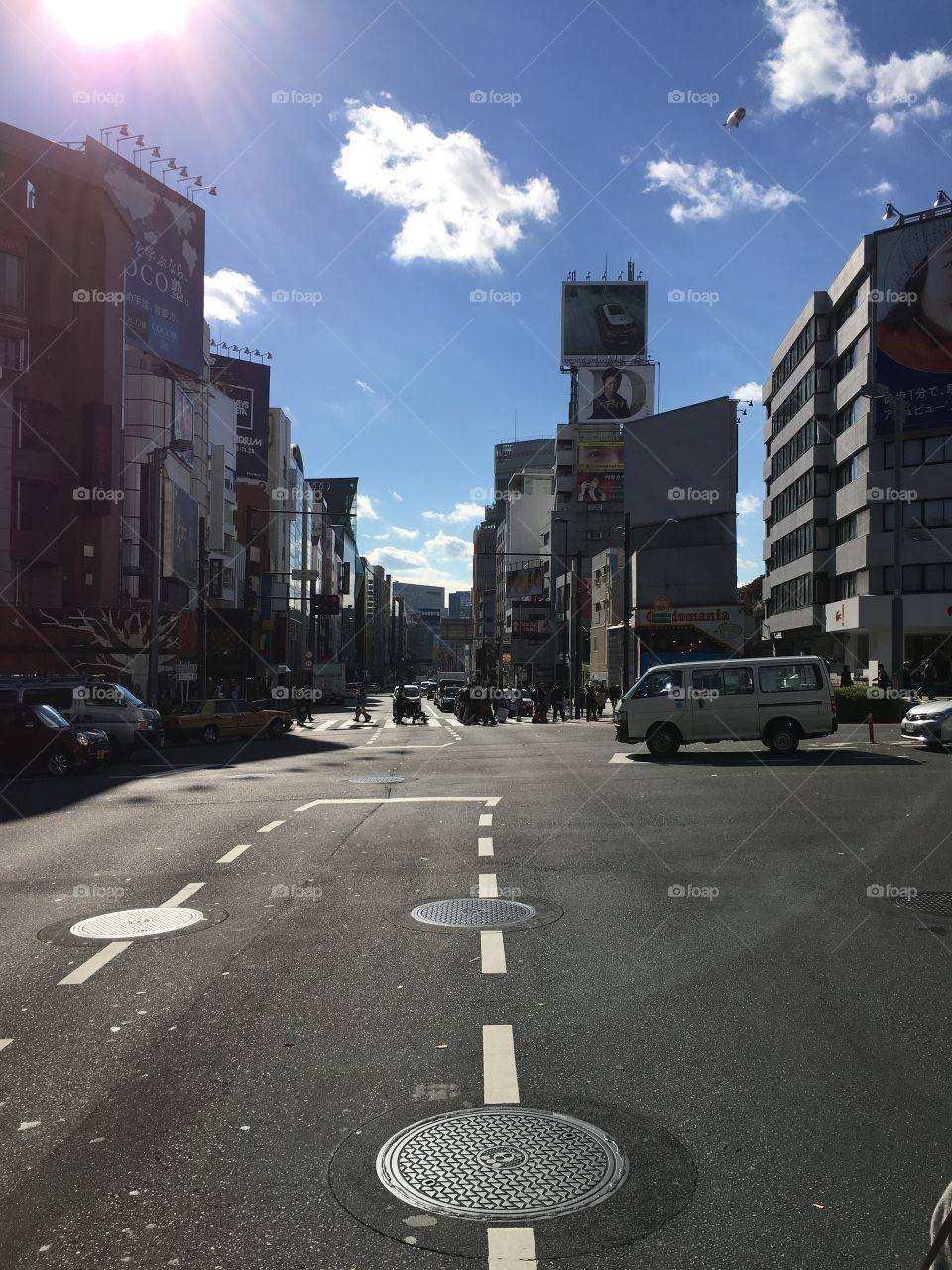 Street view of Tokyo, Japan