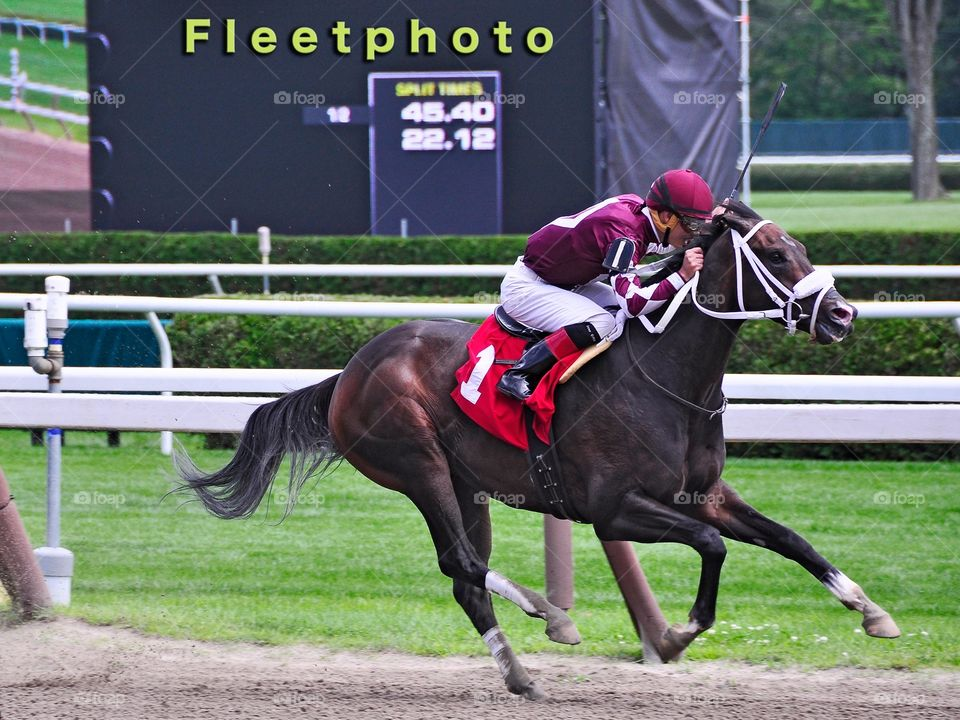 Waco Wins at Saratoga. Jose Ortiz wins on Waco a muscular dark brown colt trained by James Bond. Opening day at Saratoga🏇🏻