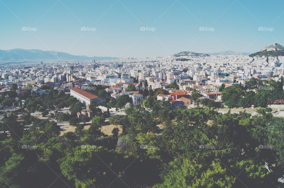 View of Athens from the Parthenon
