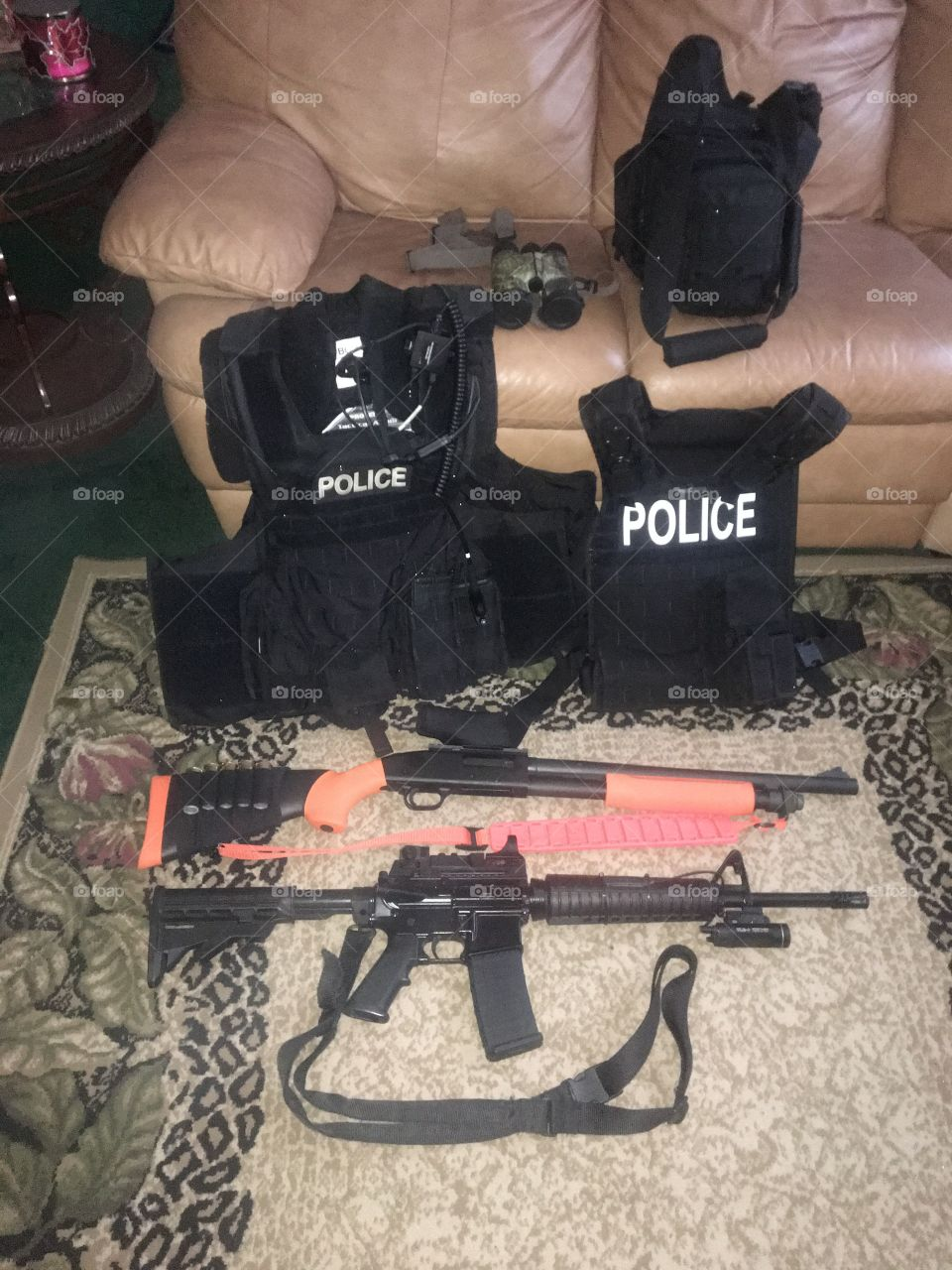 Gear for a modern Police Officer, truly a Soldier in a War that Never ends. Stay alert. Stay vigilant. Stay aware. Stay Alive