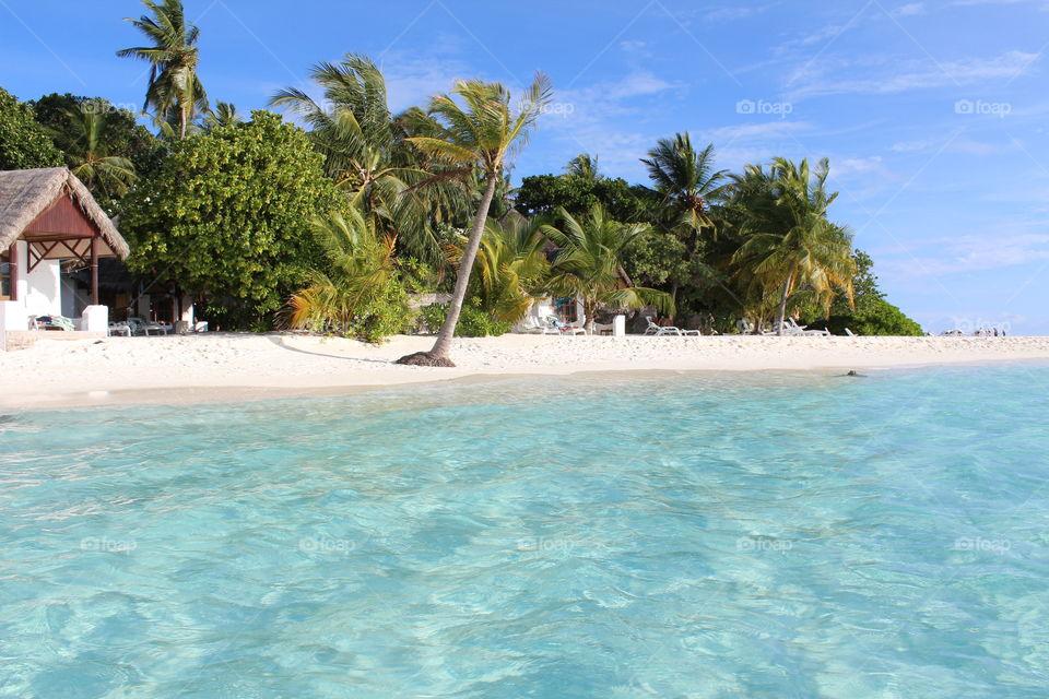 Beach of Thulhagiri Island Resort on maldives