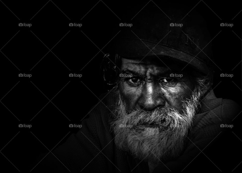 Close-up of a old man