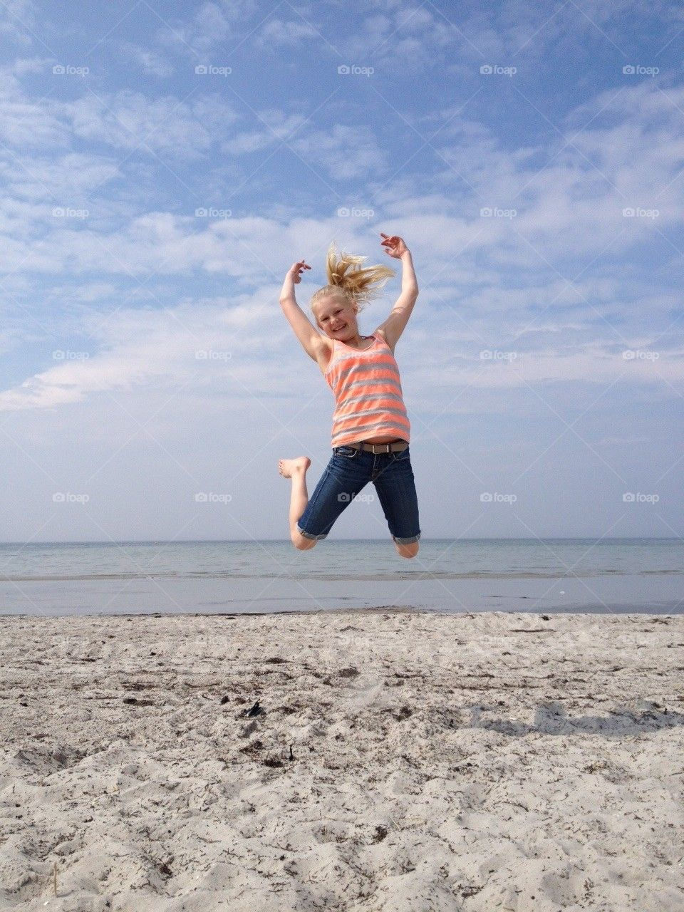 beach sky sweden girl by fiddeli