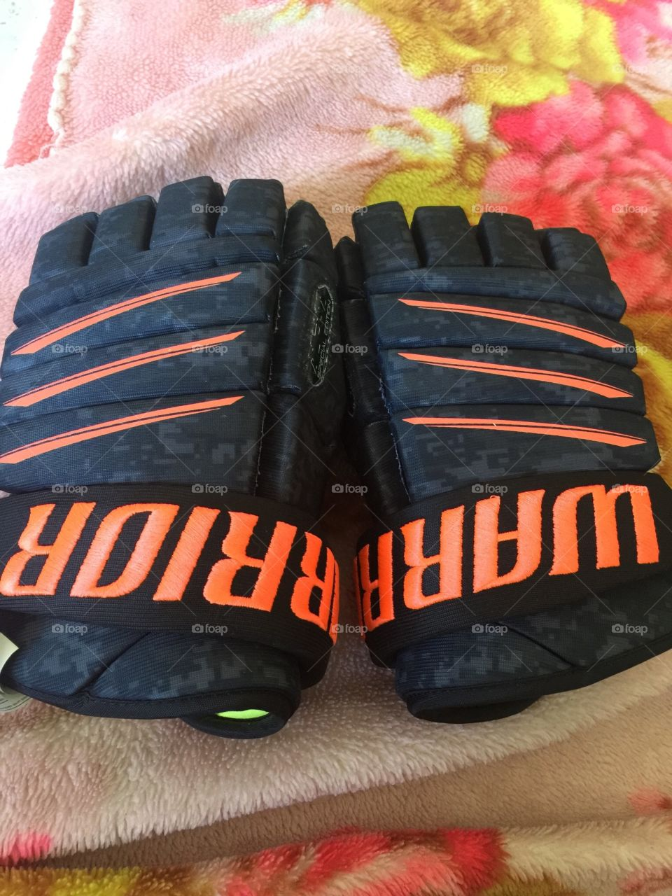 Warrior special edition hockey gloves