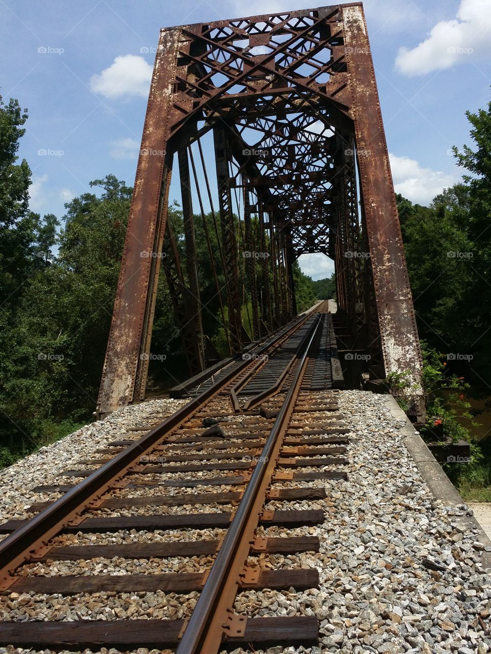 Old Railroad Bridge. Near Pearl River, LA, this is still an active track.