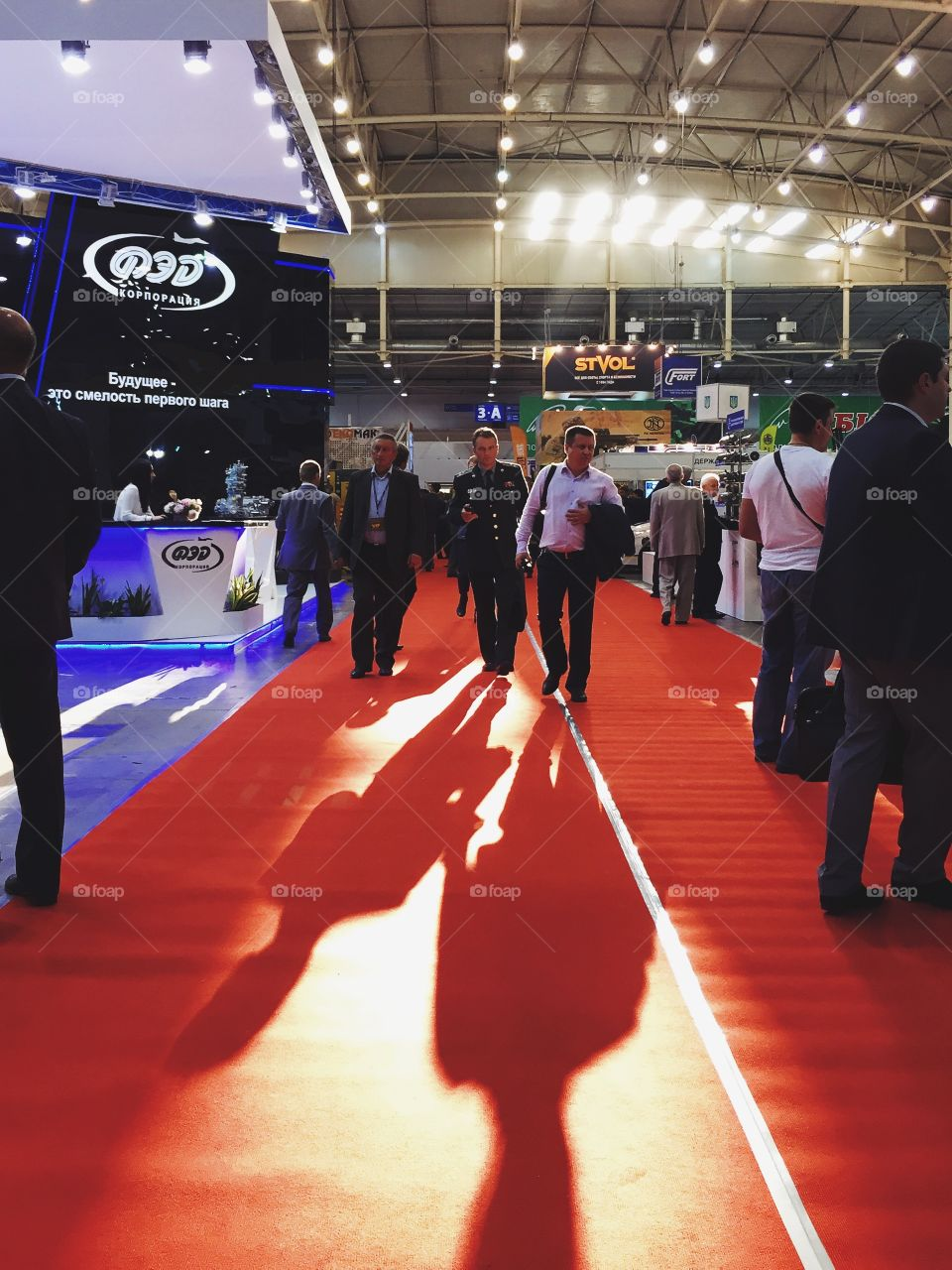 View of a business exhibition