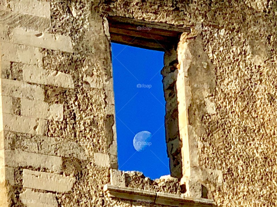 Moonrise in Chania Greece