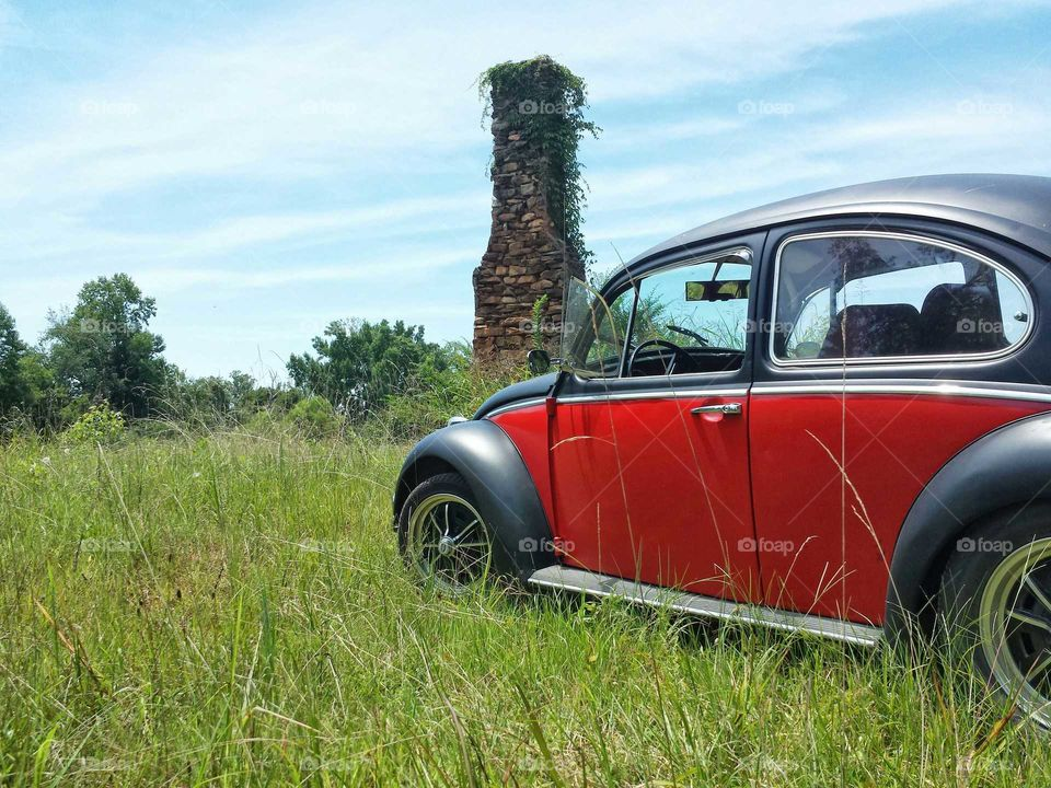 A bugs life. One of the many journeys with Bruce (my 1969 VW Beetle).