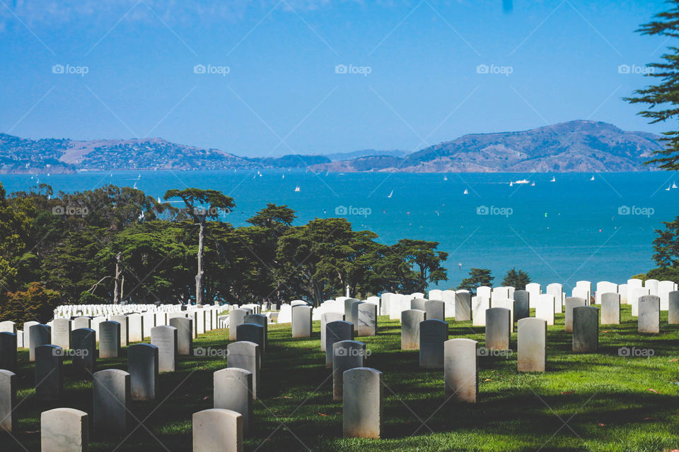 Presidio Cemetery. Much gratitude to the soldiers that sacrificed their lives so that we can be free. Let's honor them and never forget.