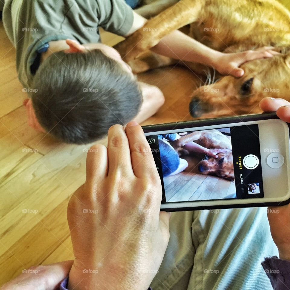 Picture the Boy and His Dog