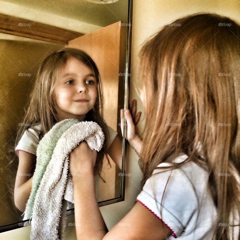 Happy Mirror Washer