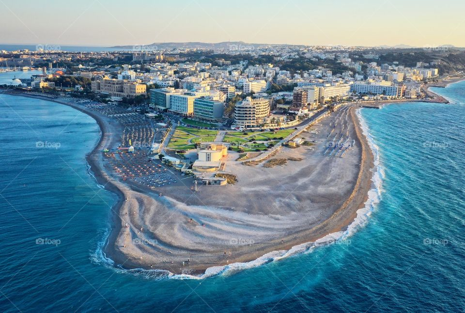 Aerial view of Rhodes
