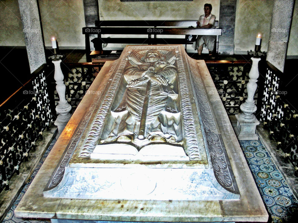 stone religious marble tomb by Heliography