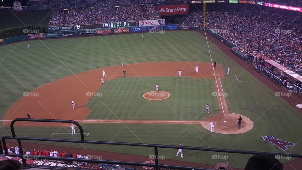 Angels Vs. Red Sox at Angels stadium