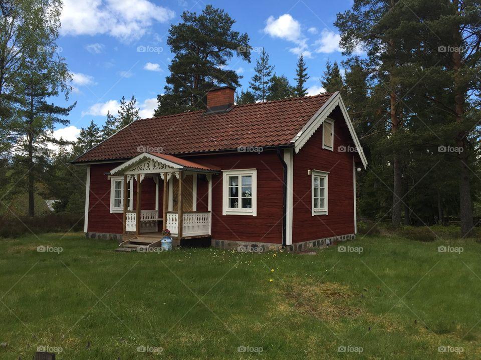 Remote red cottage