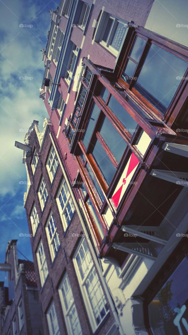 Red light. Downtown Amsterdam