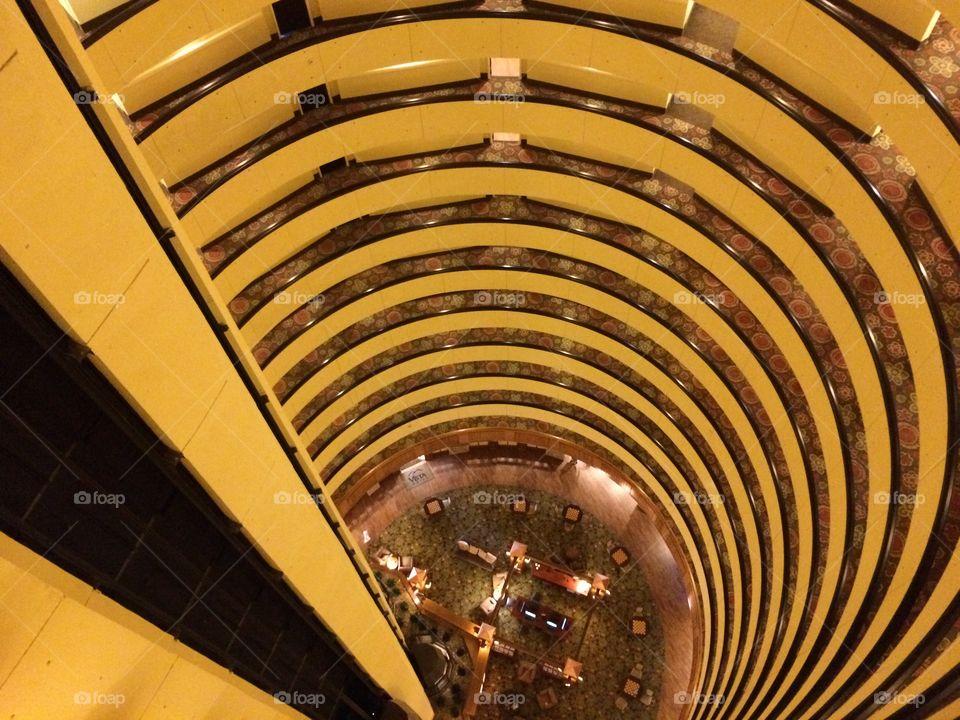 Hotel lobby from top floor