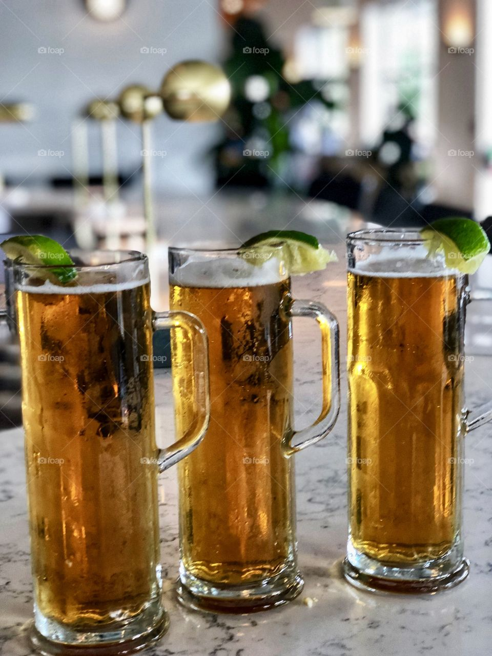 Ice cold Beer in Tall Mugs! Hanks in Austin, Texas Lifestyle Photo!