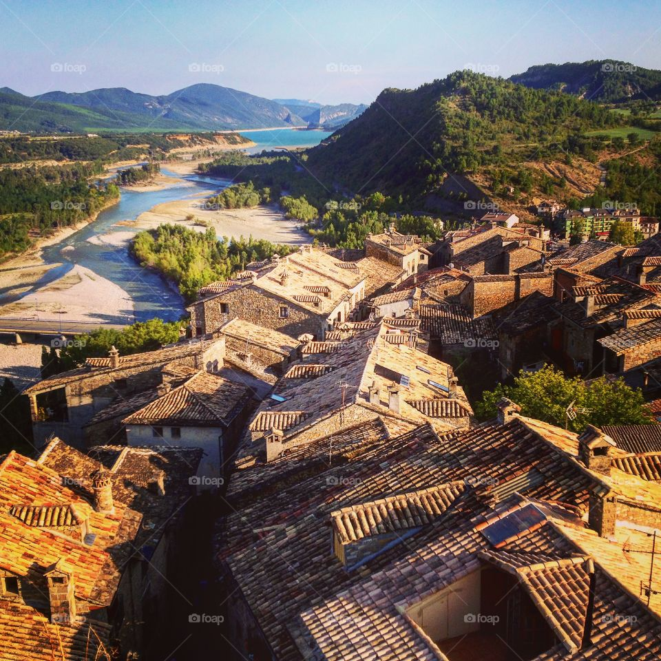 Ainsa; medieval village in the foothills of the Pyrenees