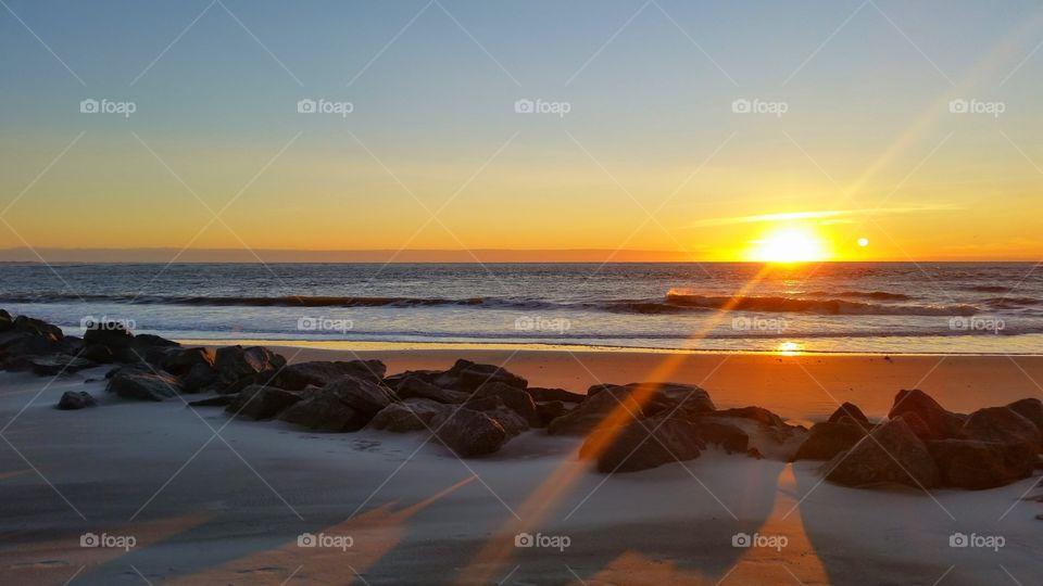 Sunlight on beach