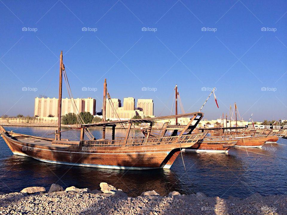 Doha dhow boat