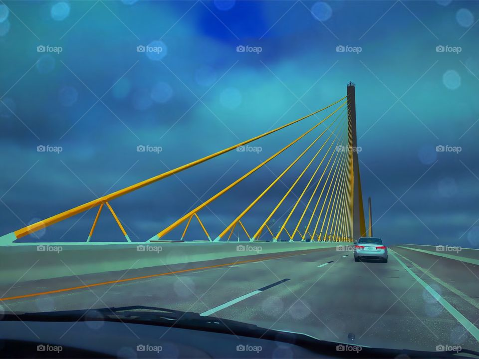 High clouds over the Skyway bridge.