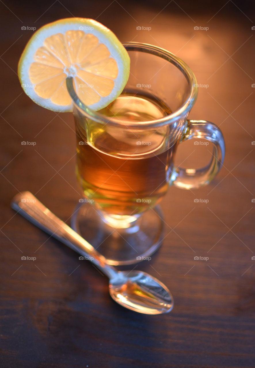 Hot Whiskey with Lemon
