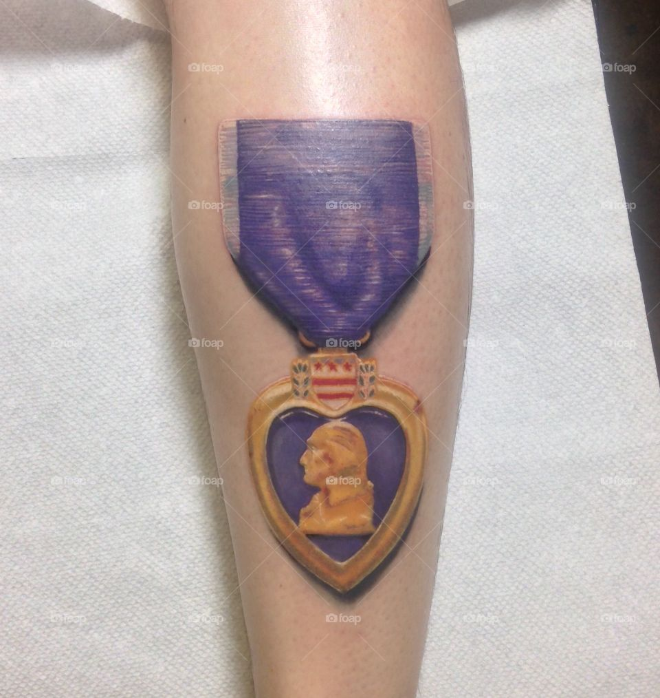 Purple Heart . I was wounded in Afghanistan 8 years ago. This is part of my healing.