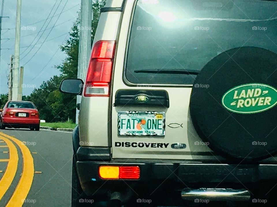 Unique Florida license plate collection FAT ONE