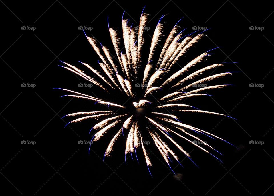 Blue tips  fireworks