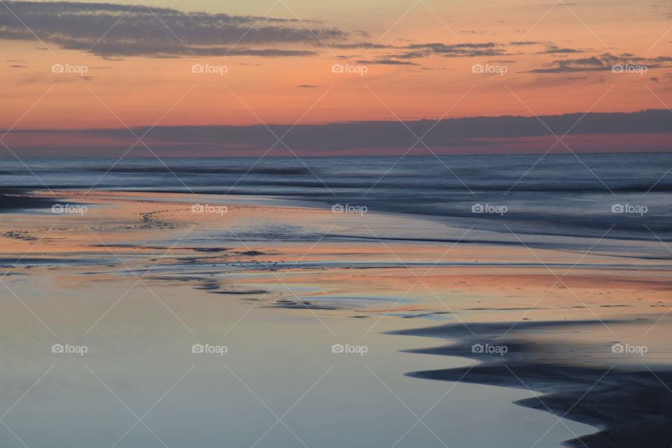 Long Exposure of Sunrise at the Beach