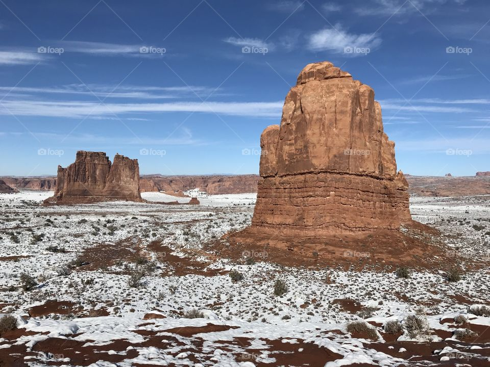 Arches National park winter season
