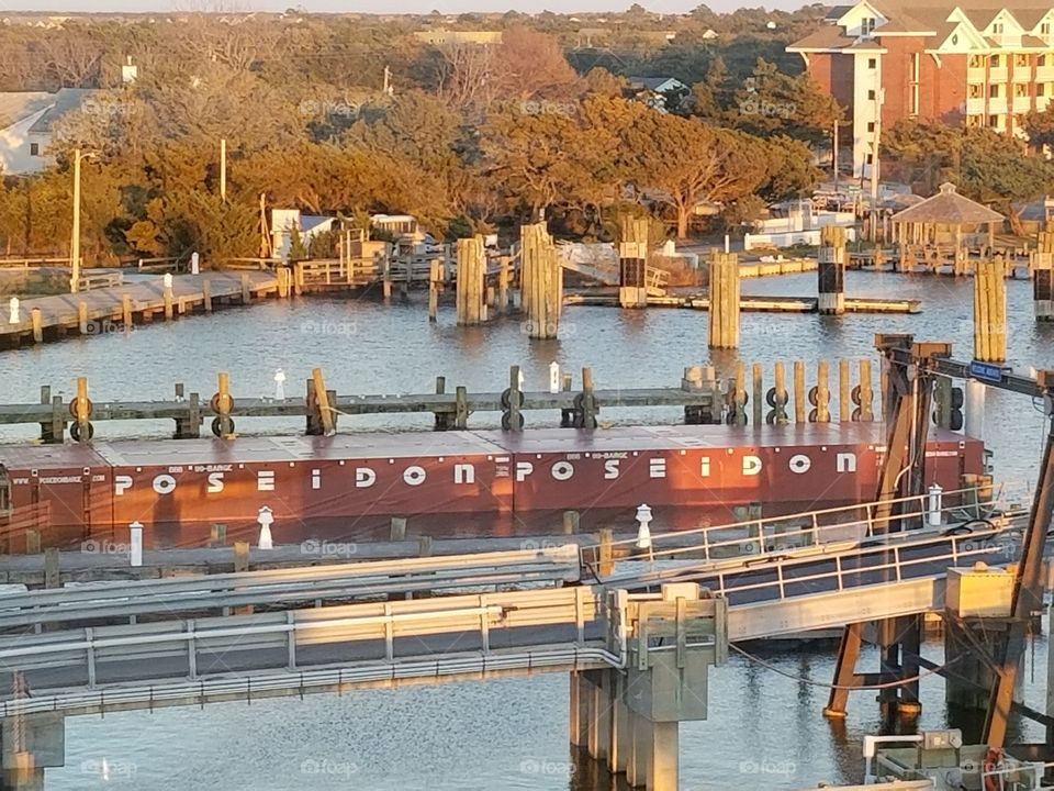 Barge in the harbor