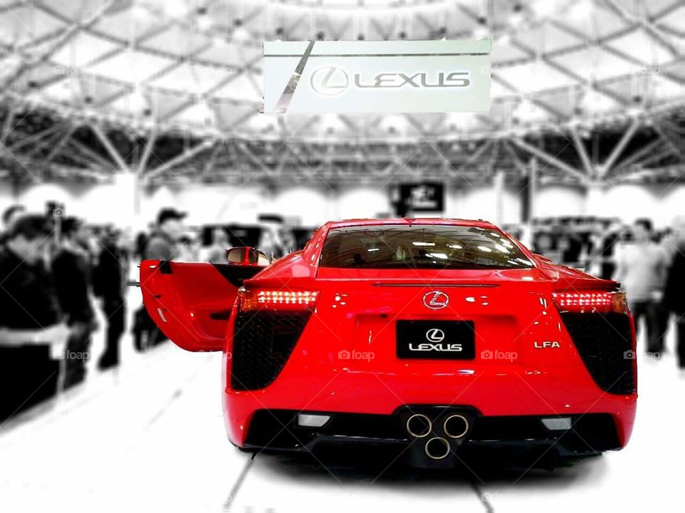 Red Lexus LFA at the Minneapolis Auto Show at the Minneapolis Convention Center in Minneapolis, MN