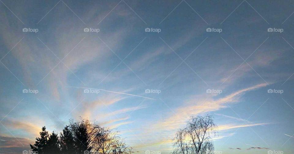 Romantischer Himmel