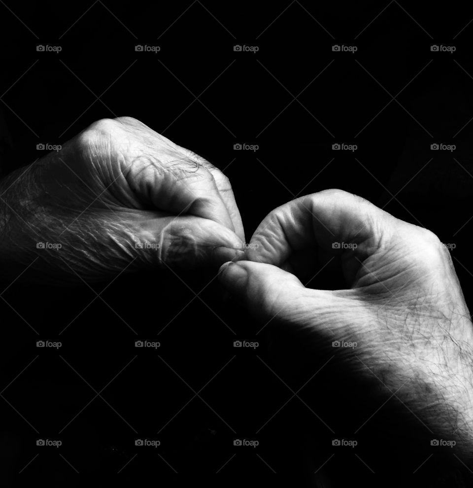 Hands. Weathered hands