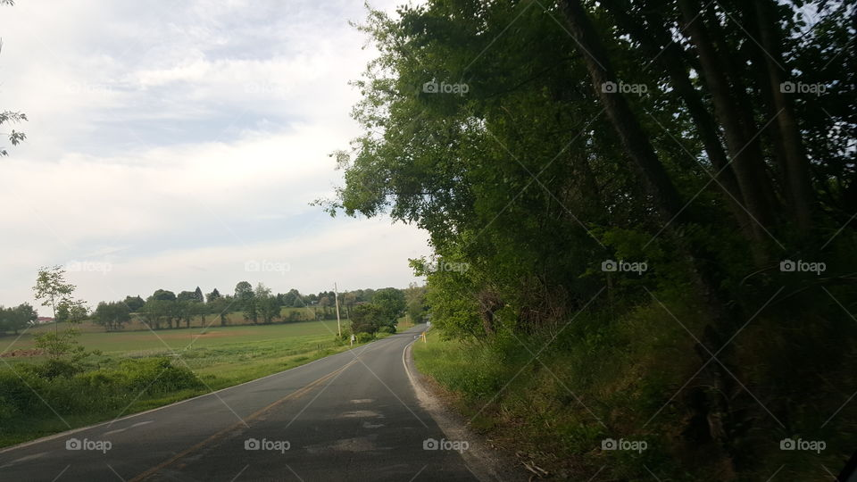 Pennsylvania Road. Driving through Pennsylvania