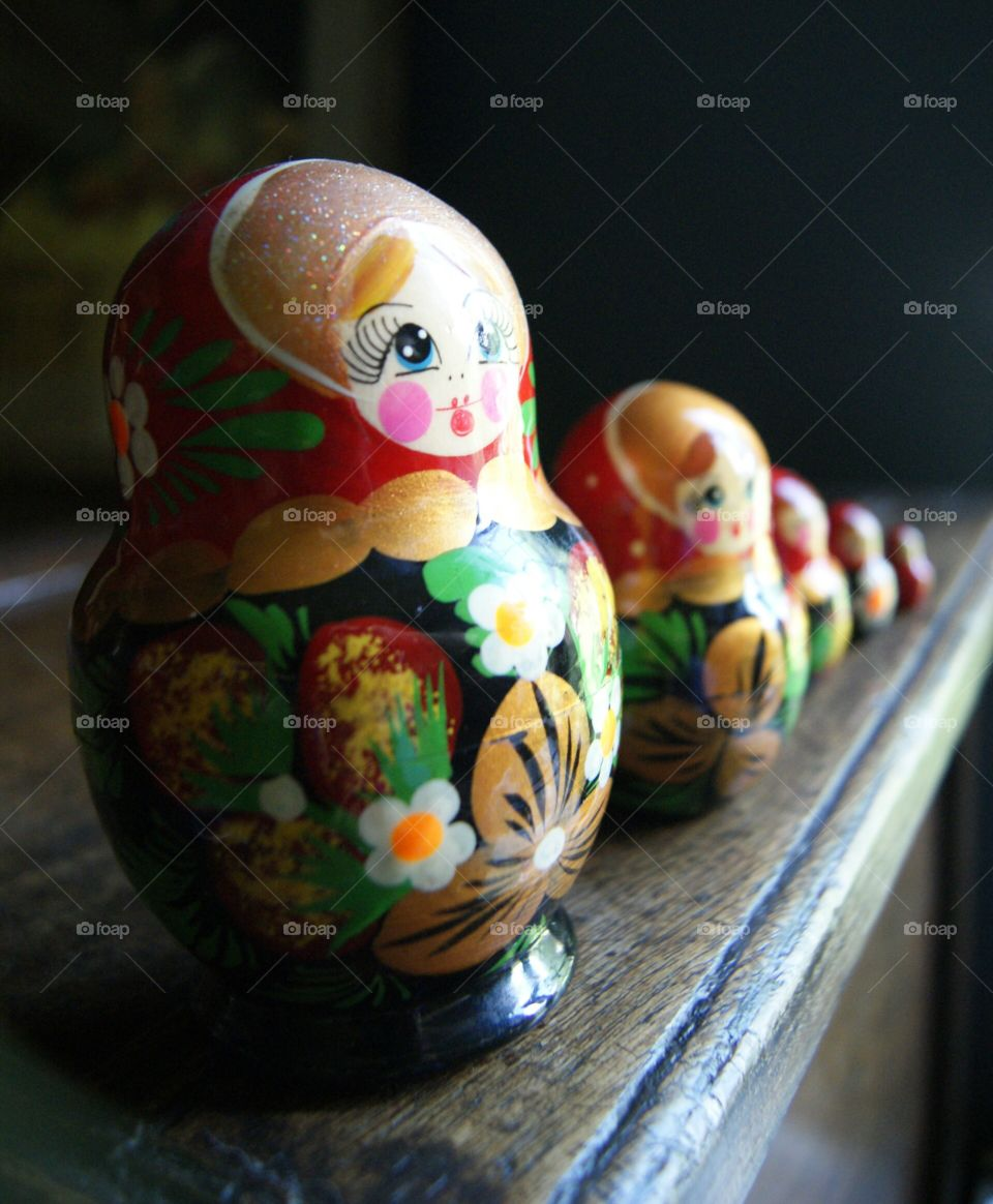 Matryoshka. A set of Russian nesting dolls from my collection.