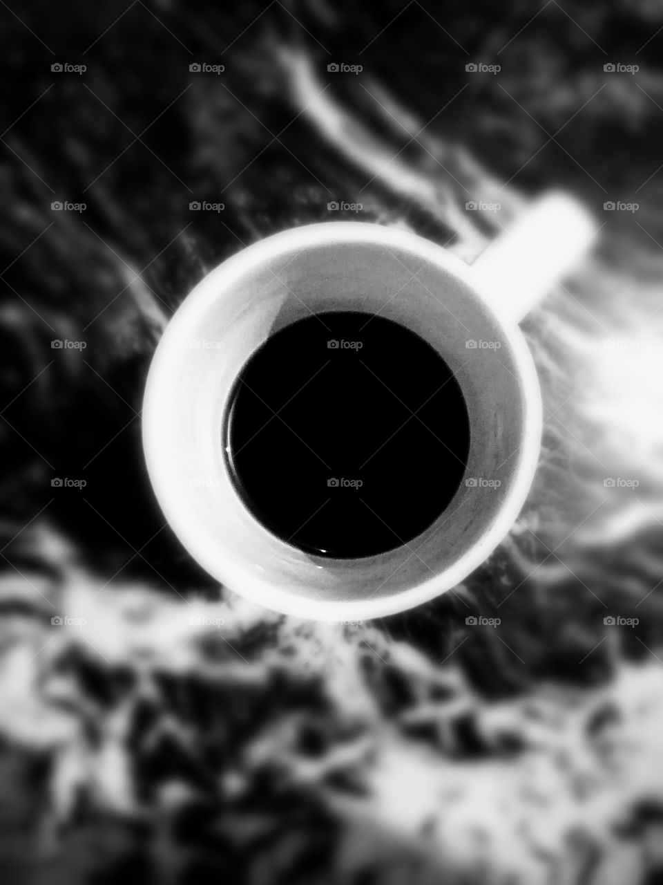 A World in coffee cup