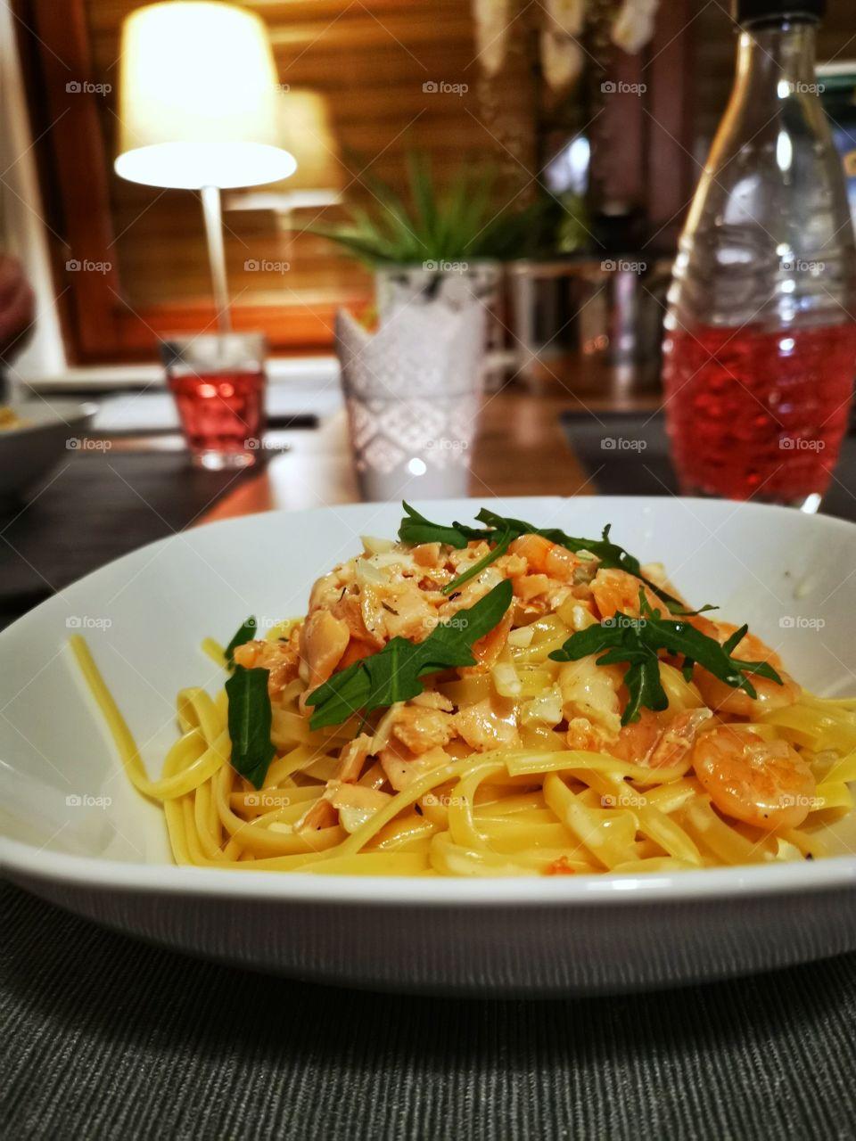 Pasta and Fish| Dinner