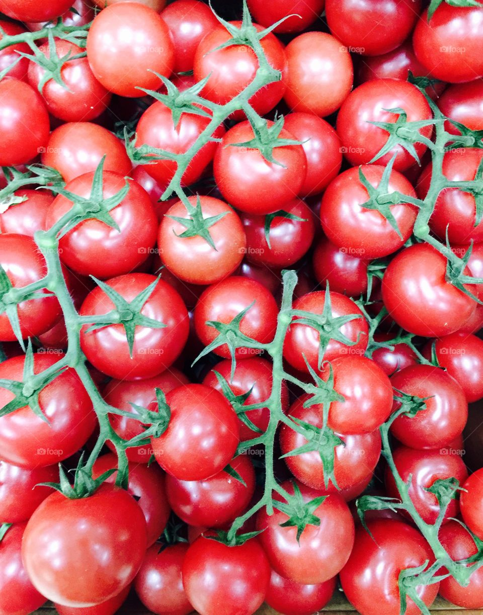 Full frame shot of tomatoes at market