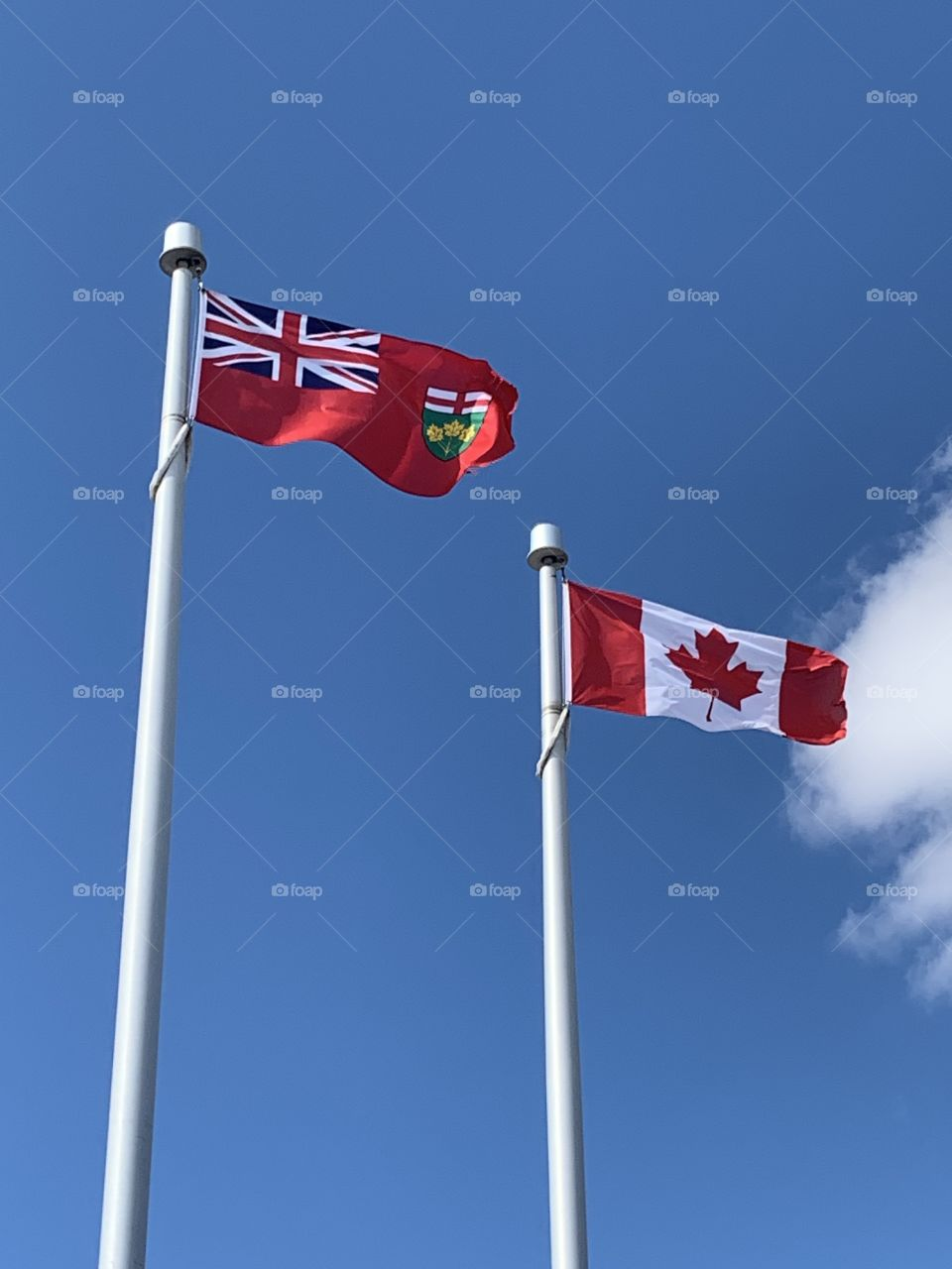 Canada and Ontario Flags
