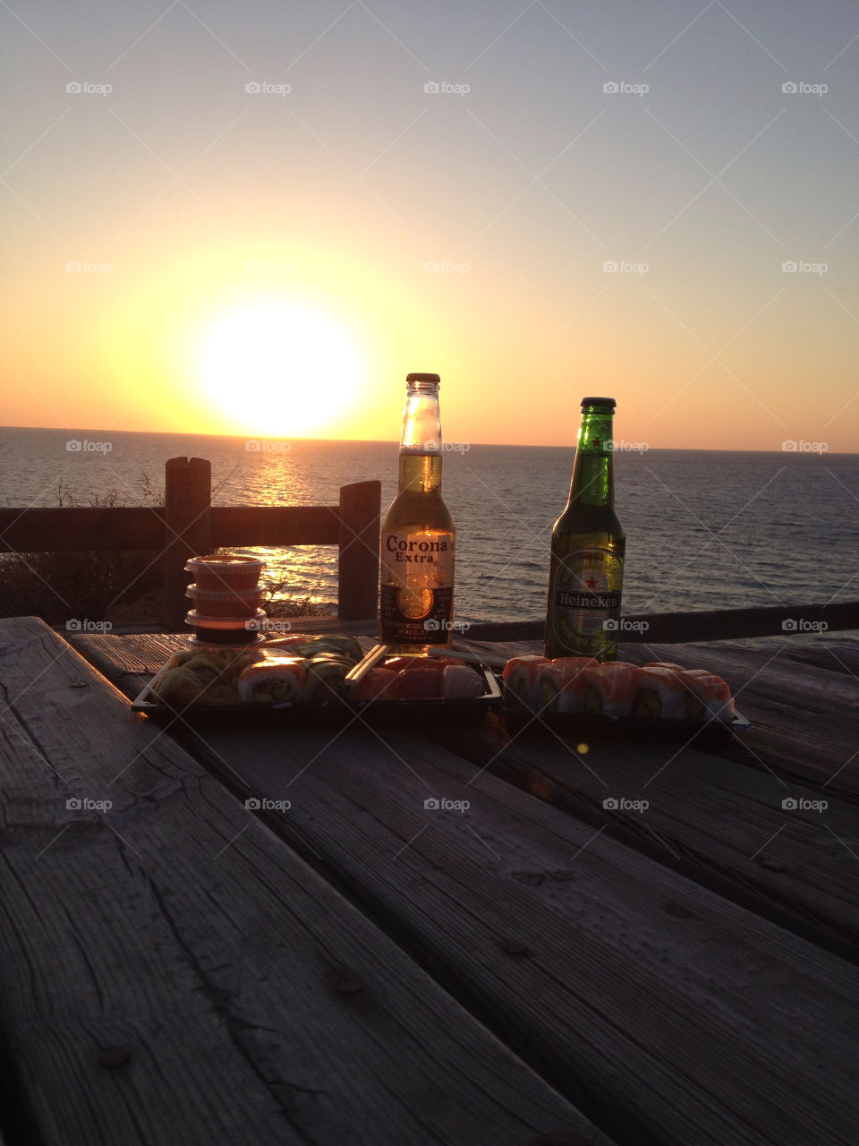 outdoor food sunset sushi by sahar
