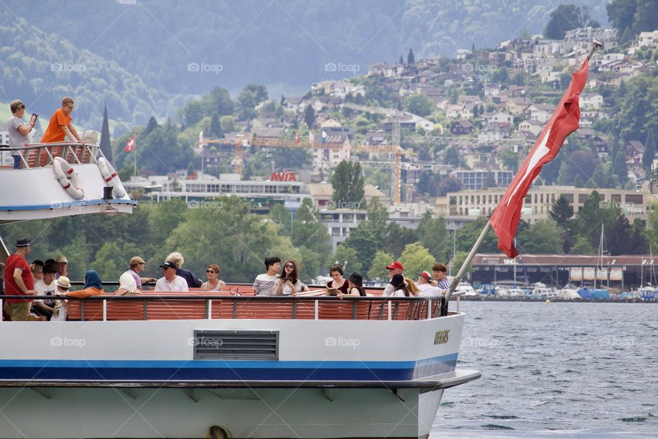 Tourists in Luzern