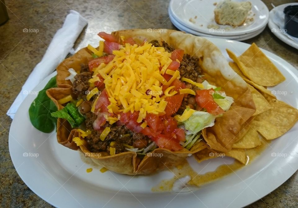 Taco salad south Texas Andy's