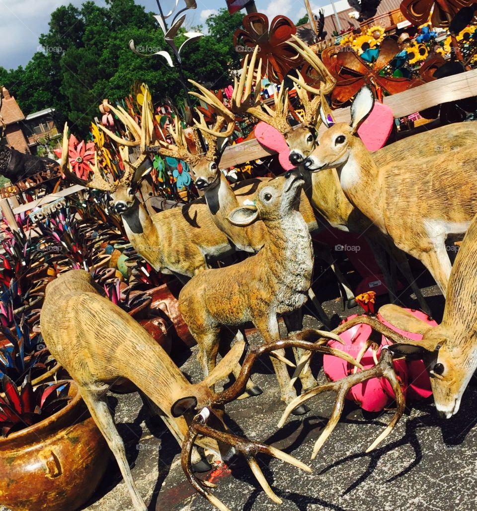 Metal Art Deer Family