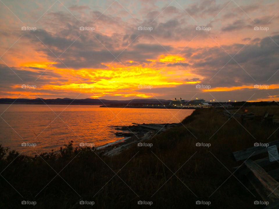 Sunset over Victoria, BC. Photo was taken near Ogden Point, James Bay in Victoria, BC, Canada!