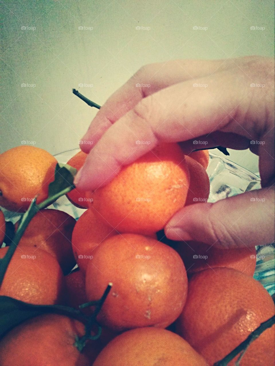 hand on orange